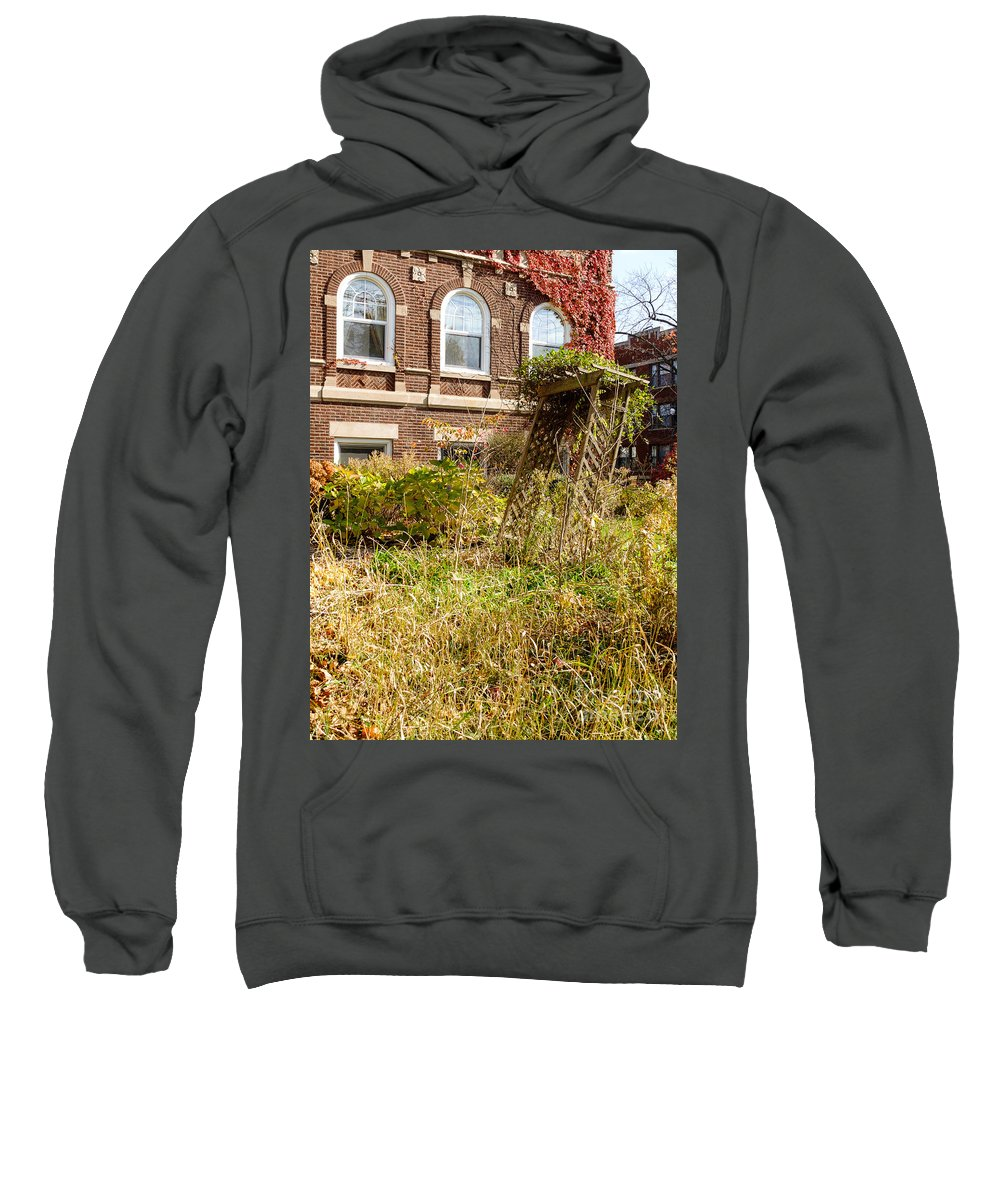 America Sweatshirt featuring the photograph Overgrown Fall Garden by Jannis Werner