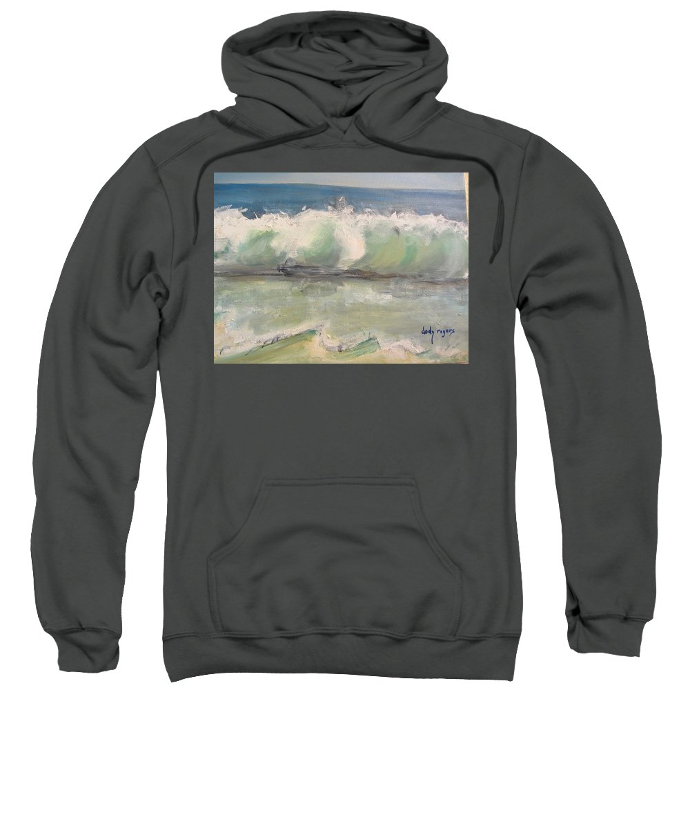 Seascape Sweatshirt featuring the painting Pacific Wave by Dody Rogers