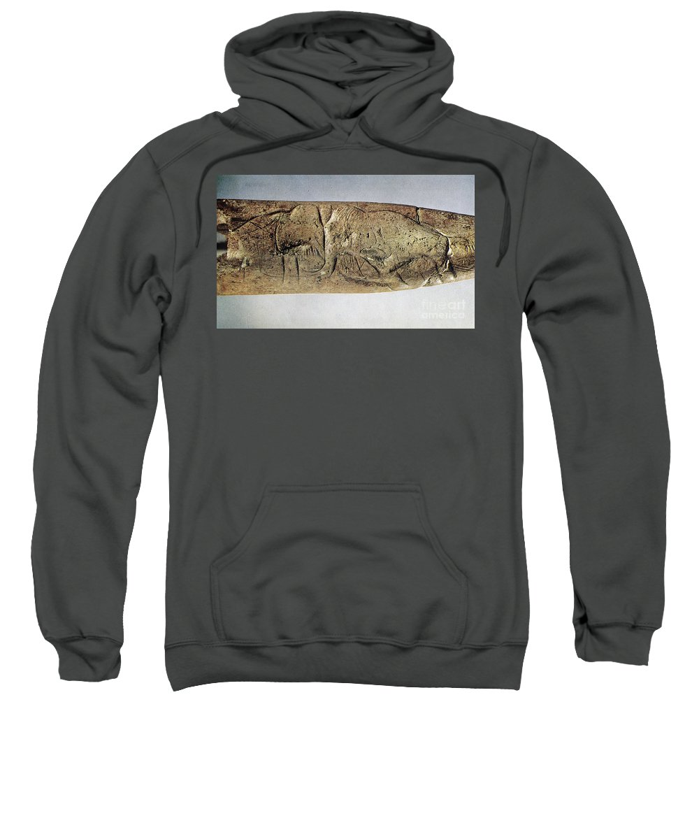 20000 Sweatshirt featuring the photograph Paleolithic Tool by Granger