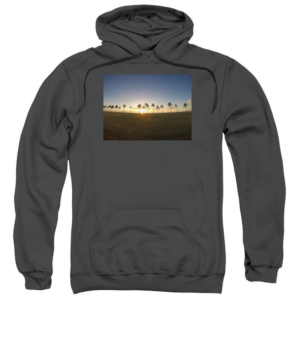 Palm Trees Sweatshirt featuring the photograph Palm Tree Paradise by Megan Martens