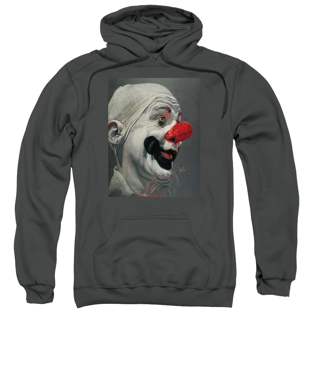 Circus Sweatshirt featuring the drawing Paul Jung by Barbara Keith