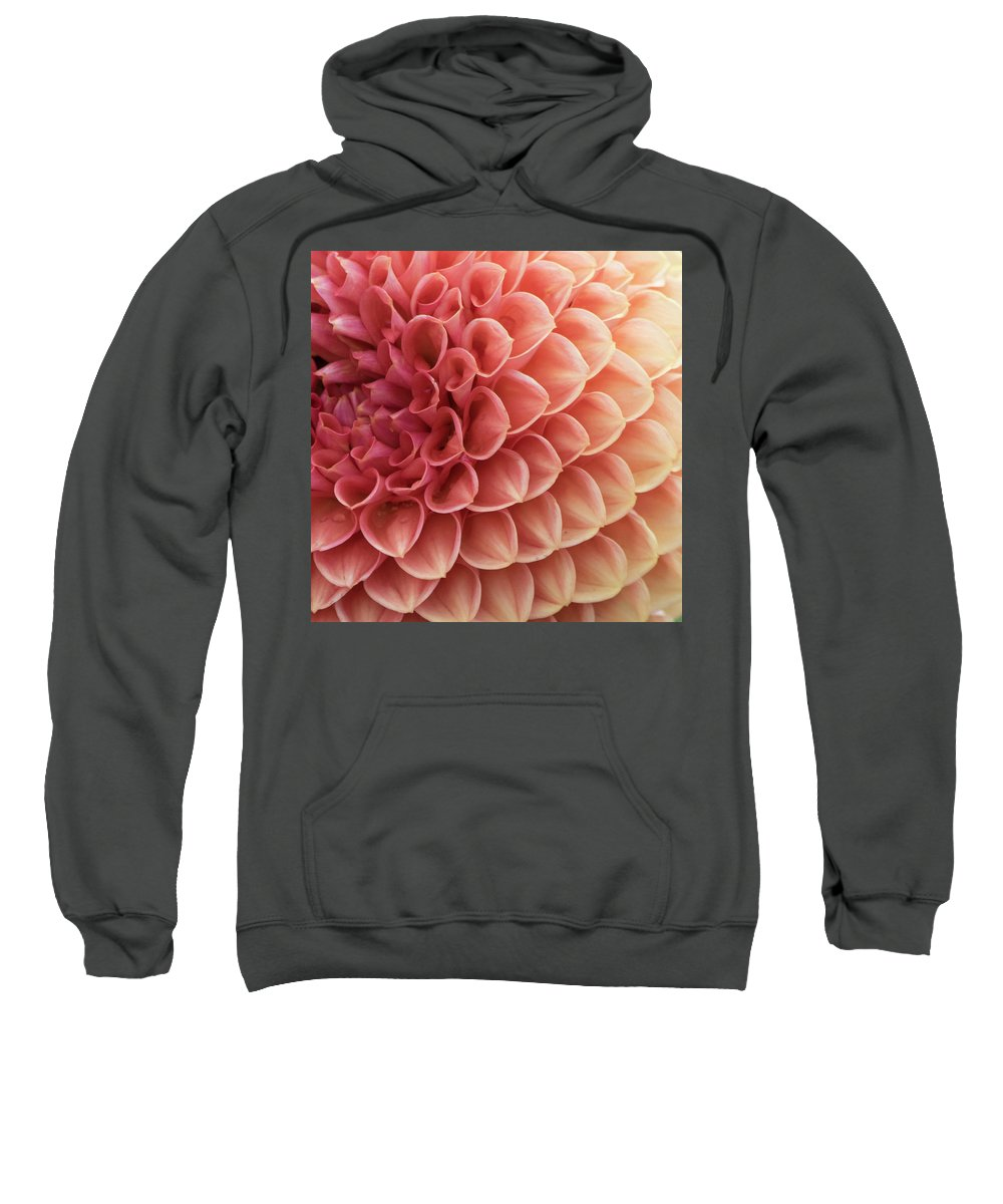 Photo Sweatshirt featuring the photograph Peachy Dahlia by Bonnie Bruno