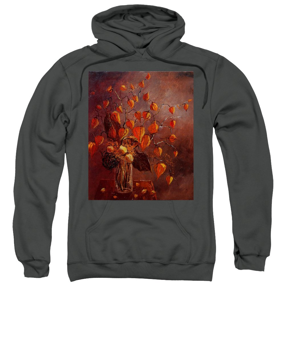 Flowers Sweatshirt featuring the painting Physialis by Pol Ledent