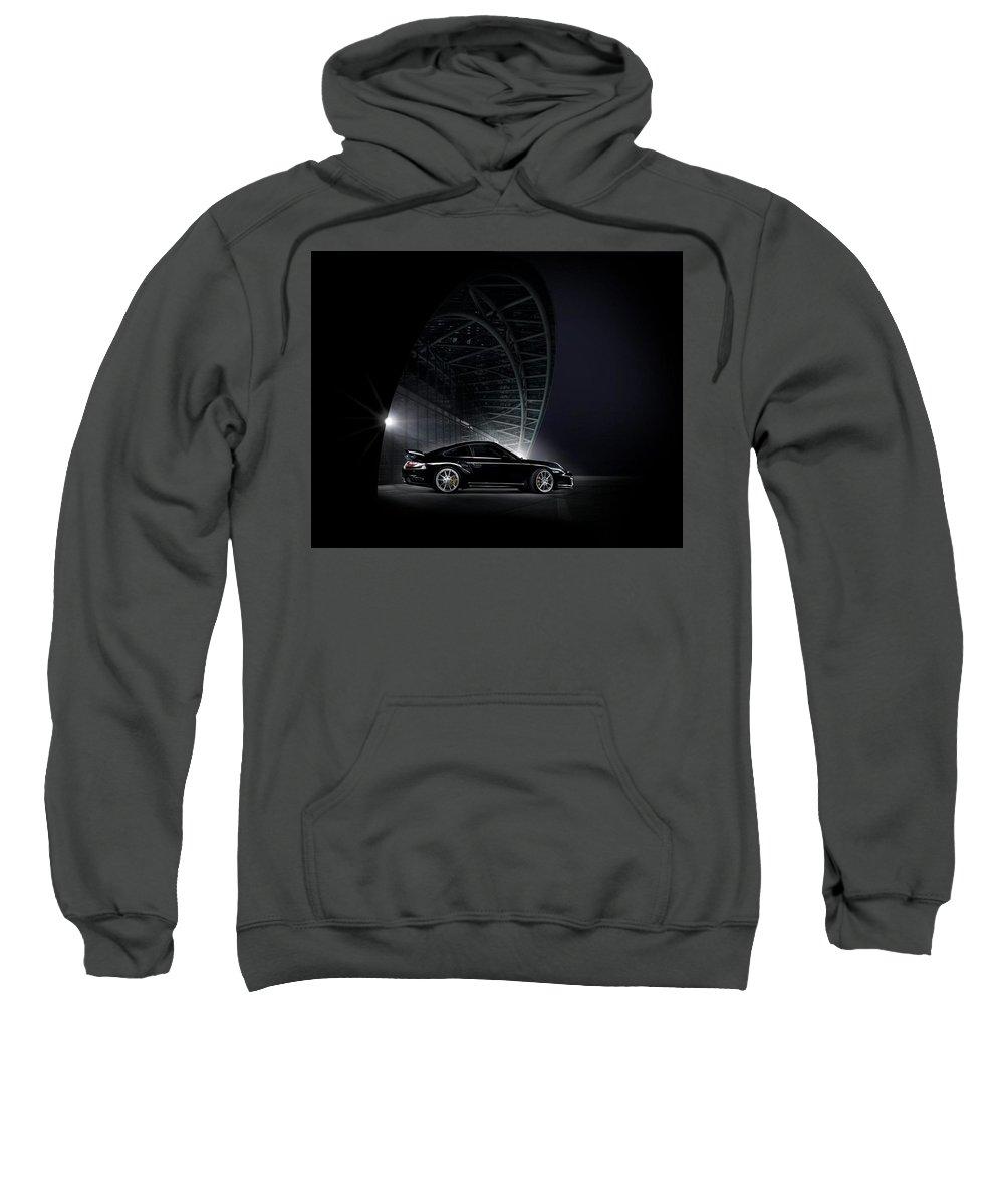 Porsche Sweatshirt featuring the digital art Porsche by Bert Mailer