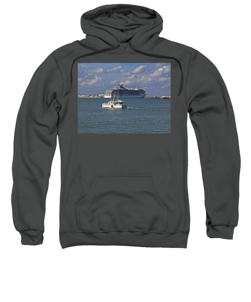 Port Sweatshirt featuring the photograph Port Canaveral In Florida by Allan Hughes