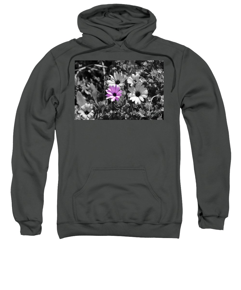 Purple Flower Sweatshirt featuring the photograph Purple Flower by Erik Dunn
