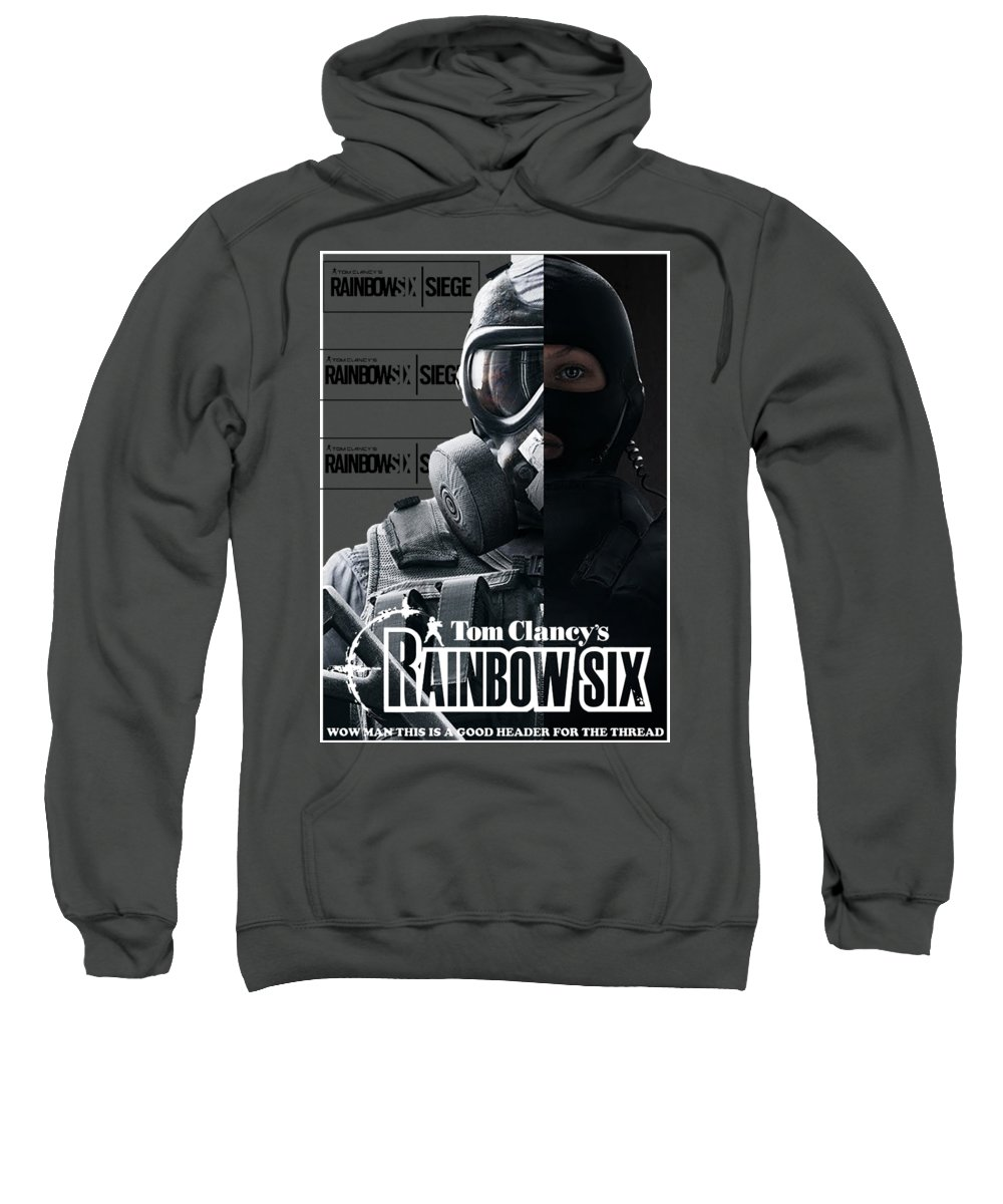 Rainbow Six Sweatshirt featuring the digital art Rainbow Six by Malika Sujono