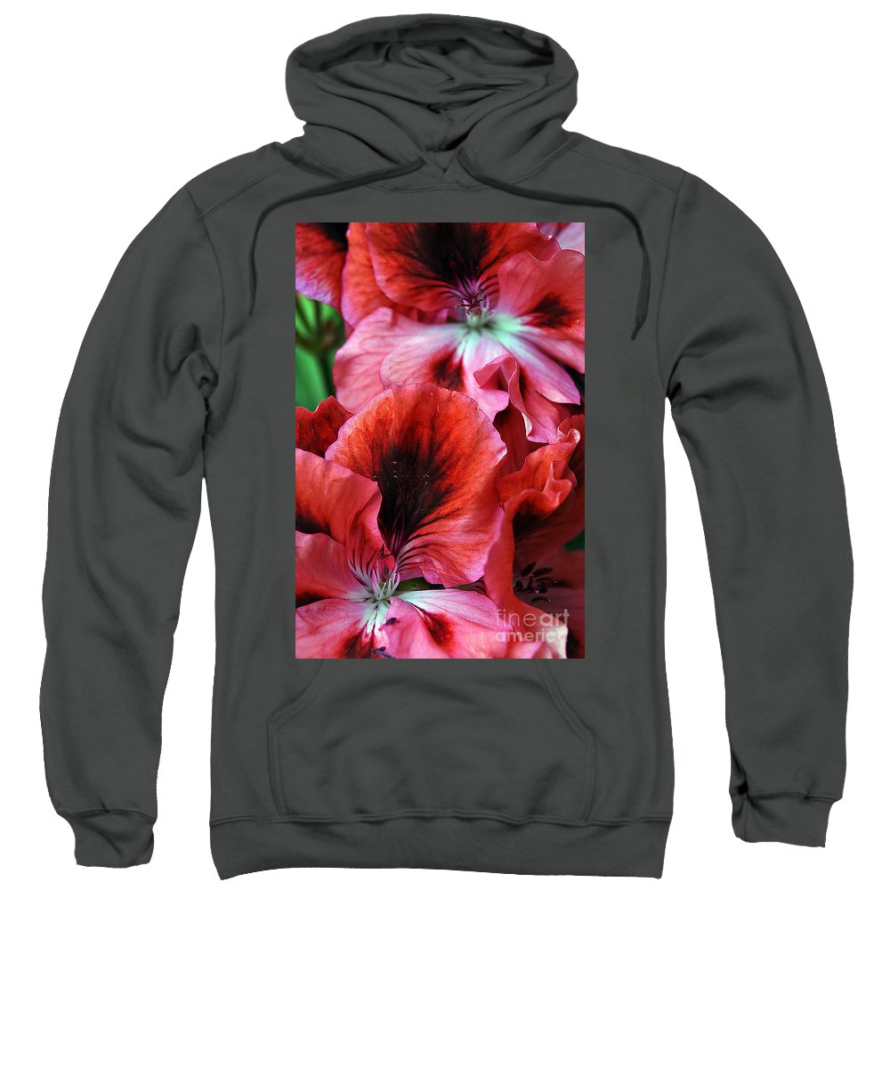 Clay Sweatshirt featuring the photograph Red Floral by Clayton Bruster