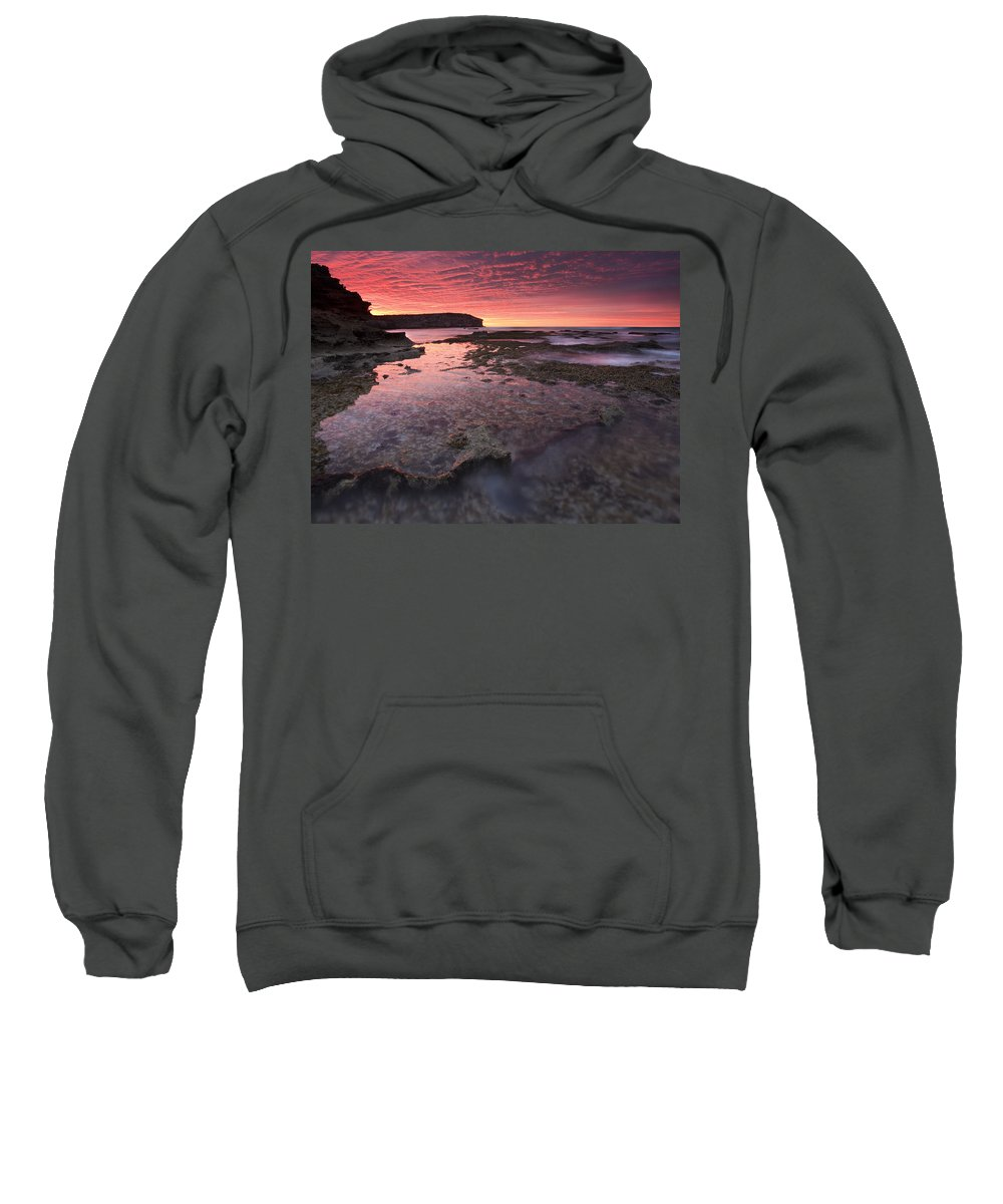 Sunrise Sweatshirt featuring the photograph Red Sky At Morning by Mike Dawson