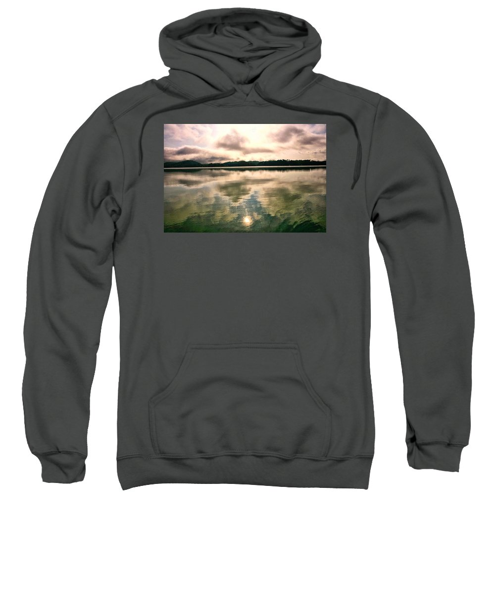 Landscape Sweatshirt featuring the photograph Reflections by John Prickett