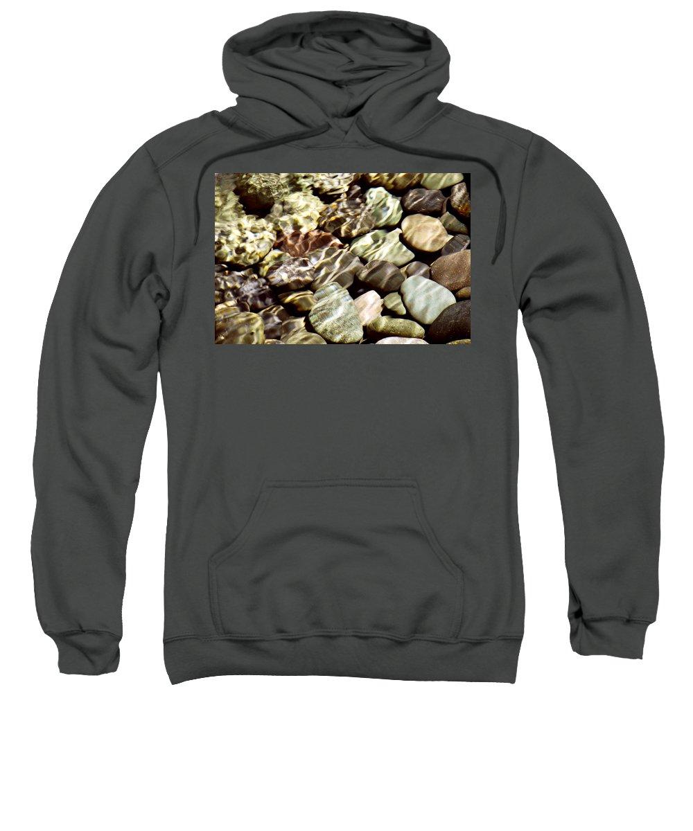 Rocks Sweatshirt featuring the photograph River Rocks by Francesa Miller