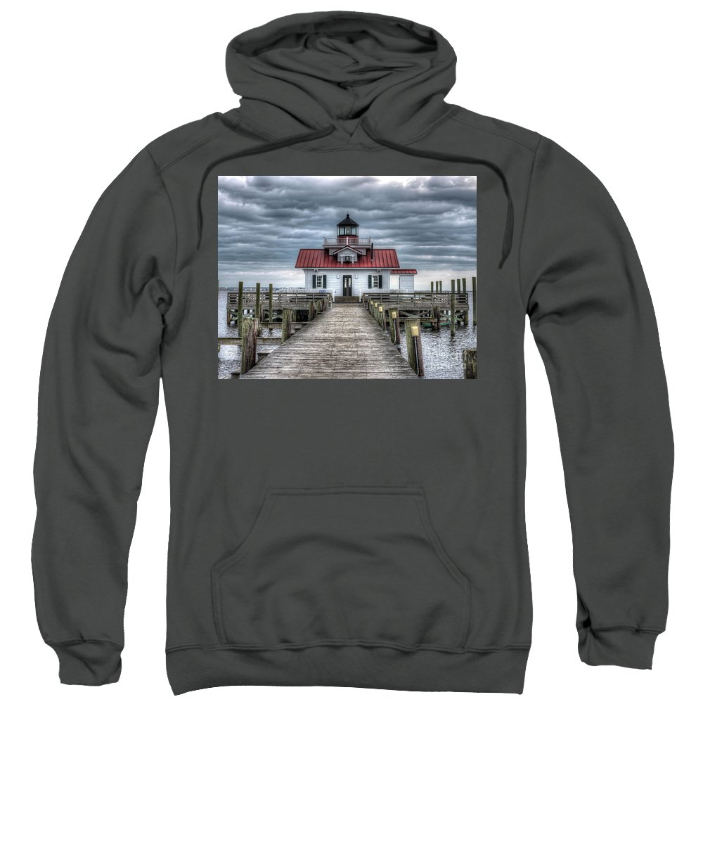 Currituck Beach Sweatshirt featuring the photograph Roanoke Marshes Lighthouse, Manteo, North Carolina by Greg Hager