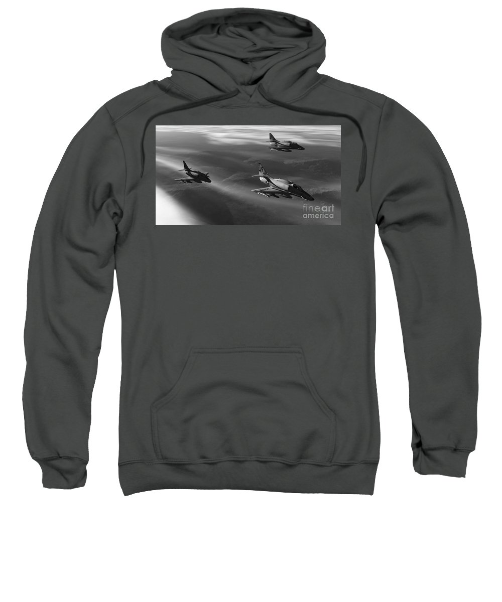 Aviation Art Sweatshirt featuring the digital art Rolling Thunder by Richard Rizzo