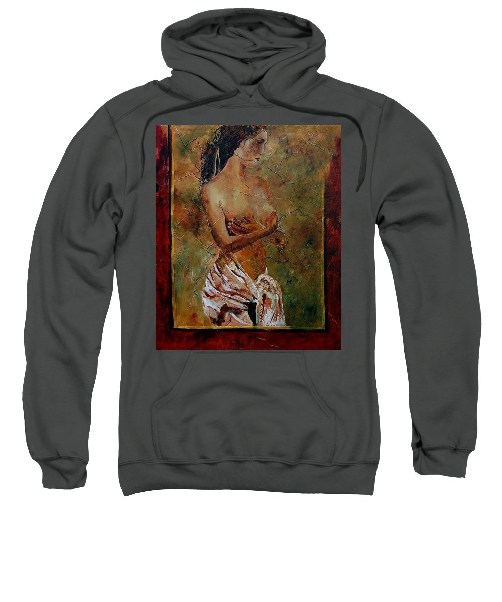 Nude Sweatshirt featuring the painting Roman Nude 67 by Pol Ledent