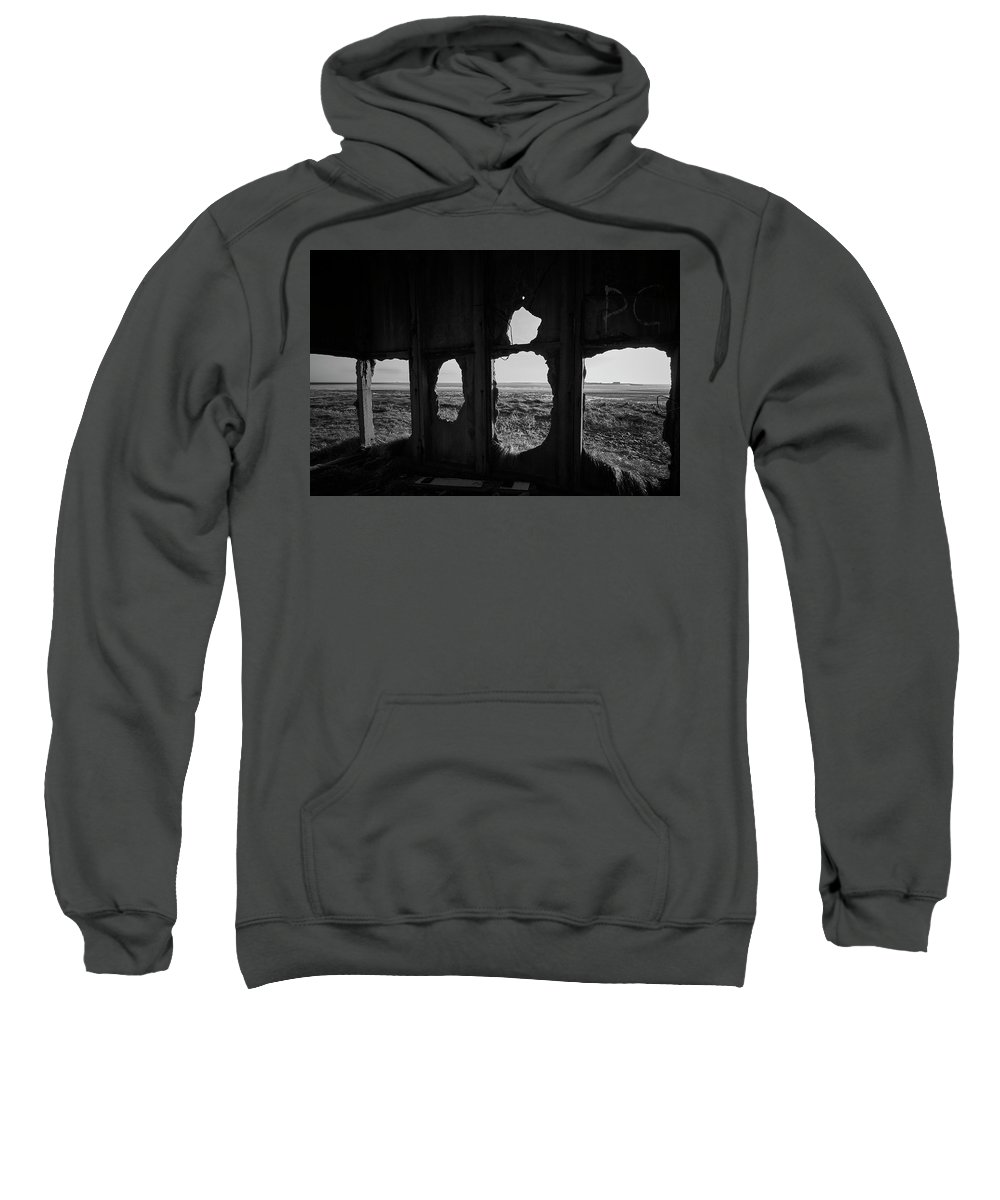 Abandoned Sweatshirt featuring the photograph Room With A View by Keith Elliott