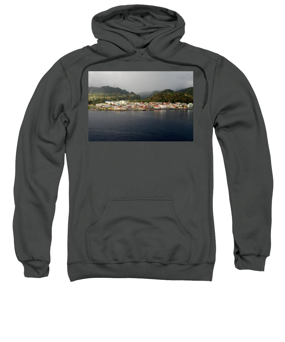 Island Paradise Sweatshirt featuring the photograph Roseau Dominica by Gary Wonning