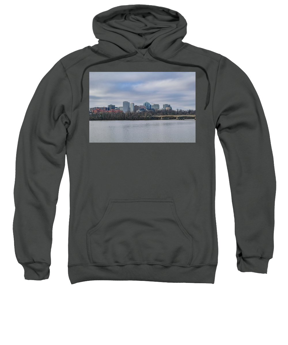 America Sweatshirt featuring the photograph Rosslyn Skyline by Cityscape Photography
