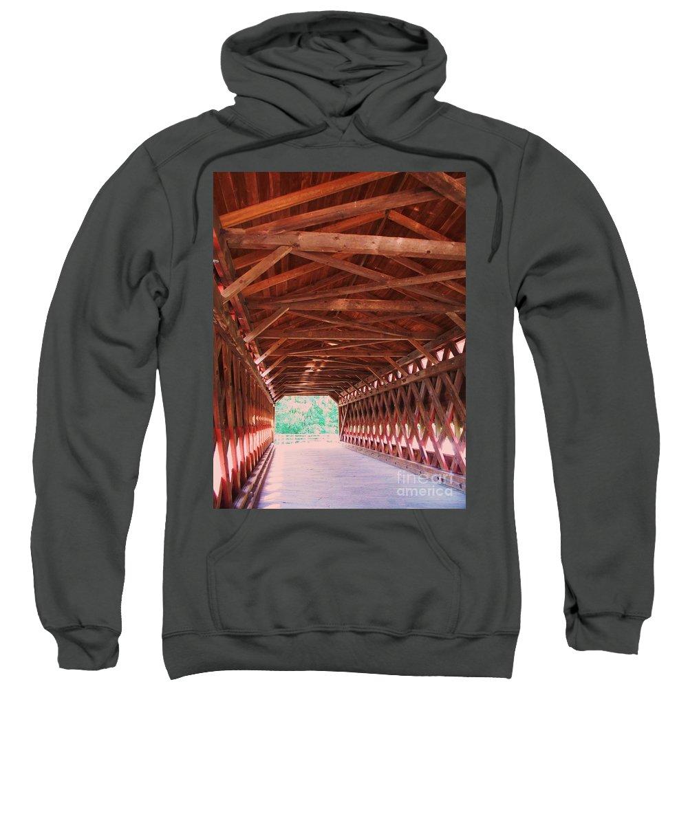 Gettysburg Sweatshirt featuring the painting Sachs Bridge by Eric Schiabor