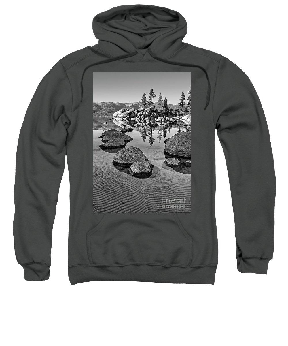Sand Harbor Sweatshirt featuring the photograph Sand Harbor Ripples by Jamie Pham