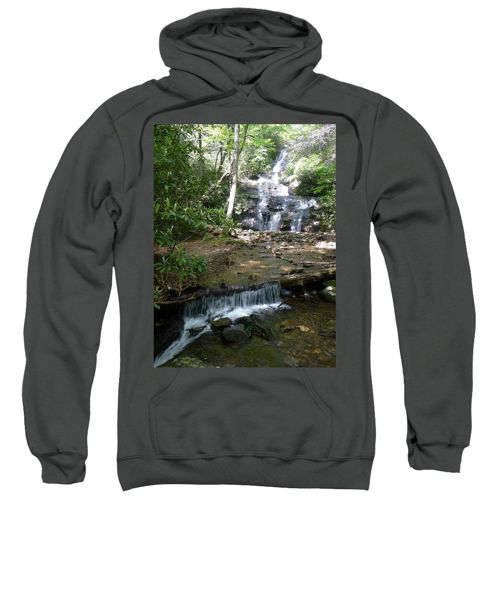 Nc Forests Sweatshirt featuring the photograph Set Rock Creek Falls by Joel Deutsch