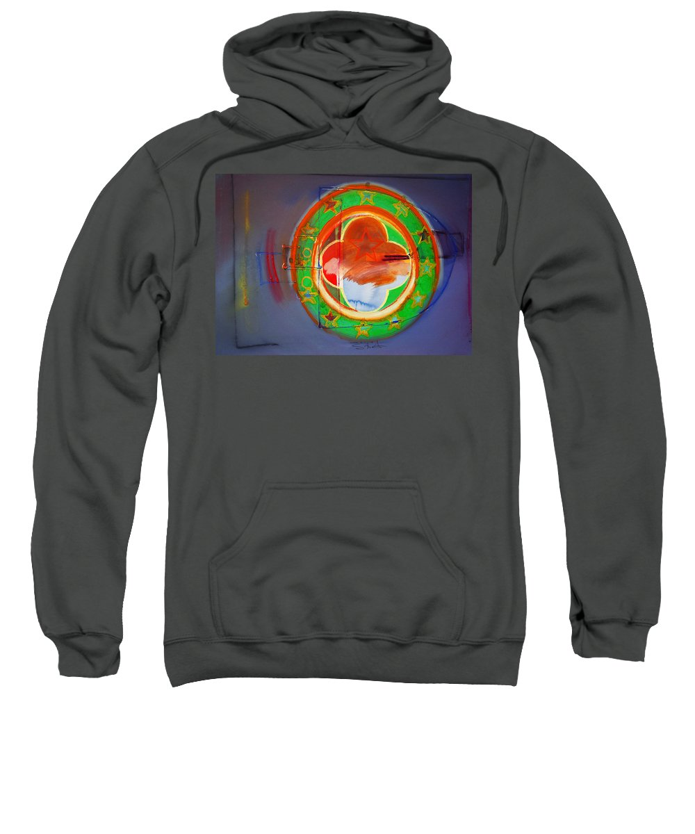 Symbol Sweatshirt featuring the painting Ship Of State by Charles Stuart