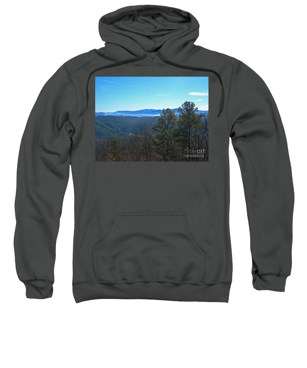 Scenic Tours Sweatshirt featuring the photograph Smokey Mountains by Skip Willits