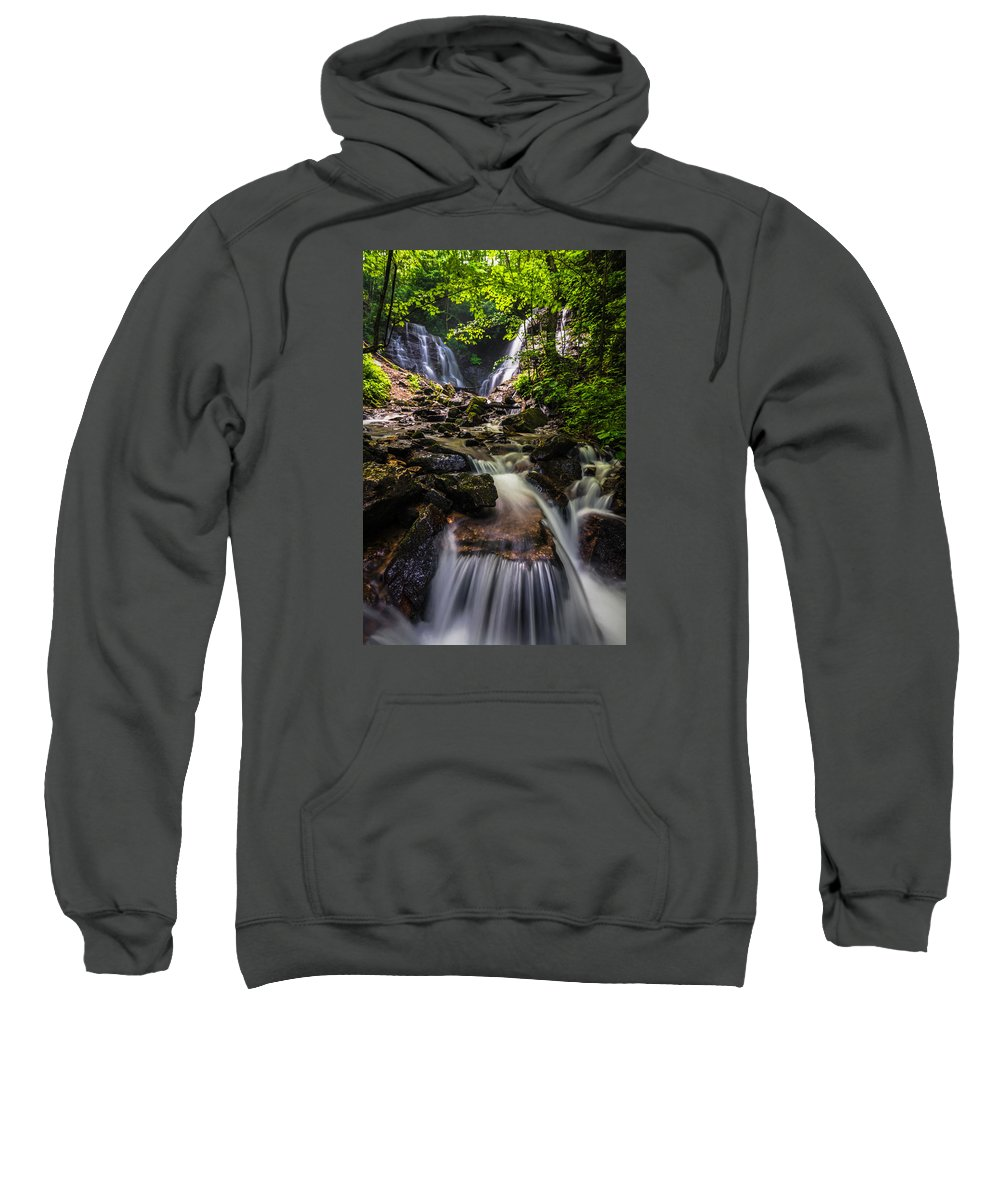Blue Sweatshirt featuring the photograph Soco Falls by Serge Skiba