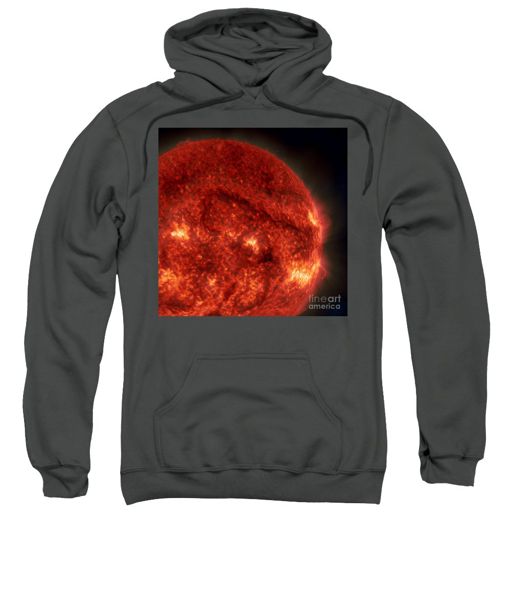 Science Sweatshirt featuring the photograph Solar Filament by Science Source