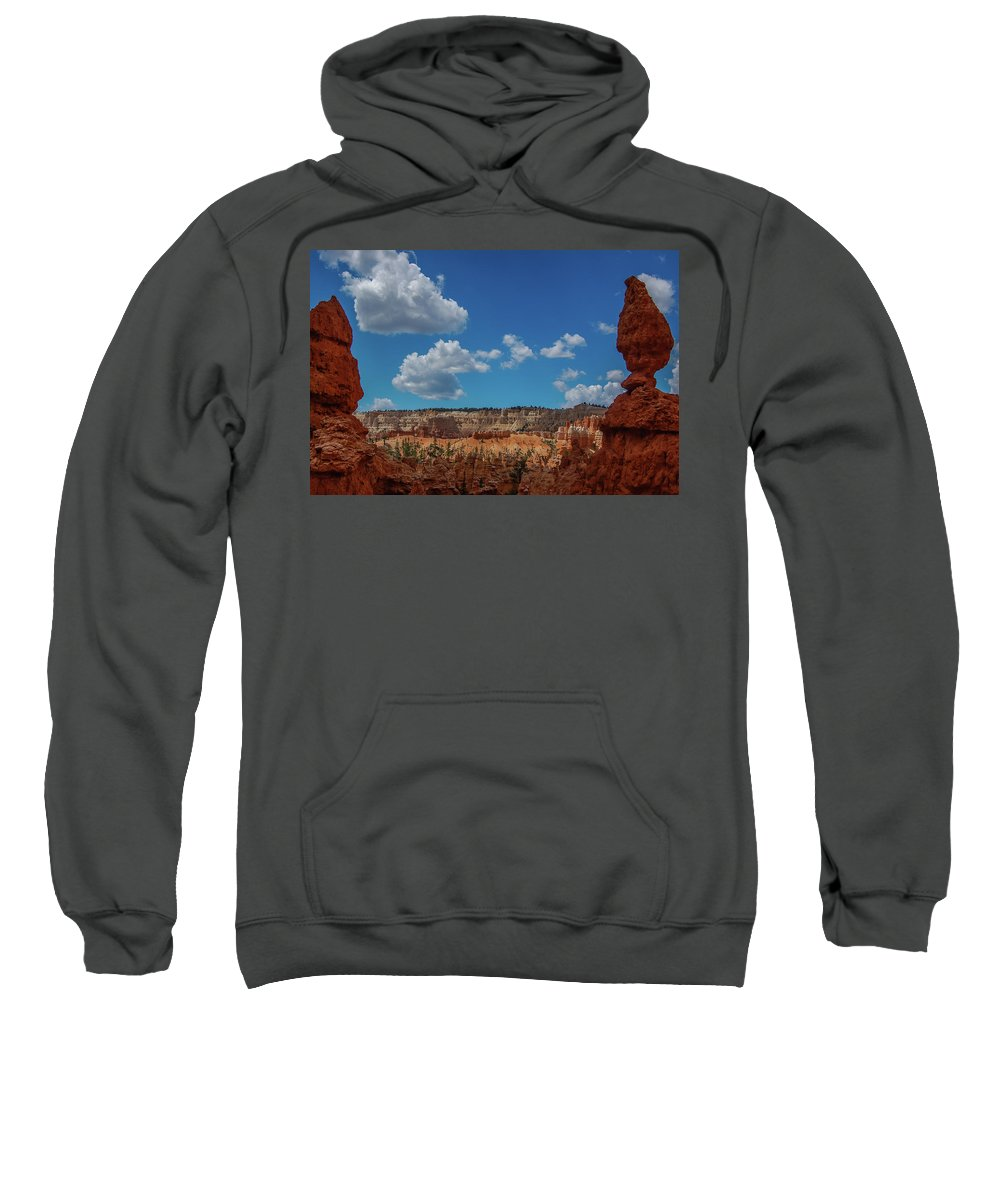Bryce Canyon Sweatshirt featuring the photograph Spires Of Bryce Canyon by Bob Cuthbert