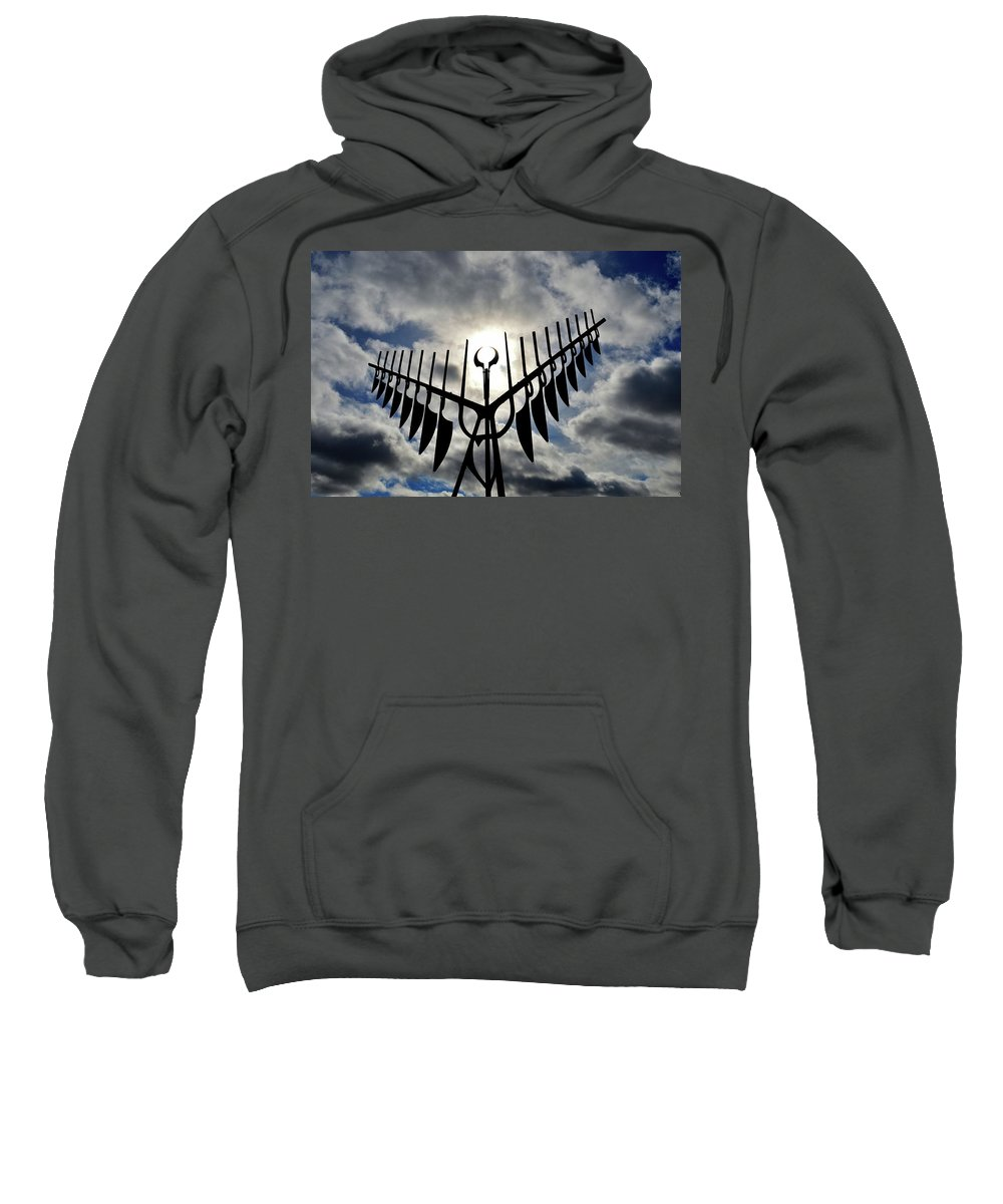 Abstract Sweatshirt featuring the photograph Spirit Catcher Against The Sky by Lyle Crump