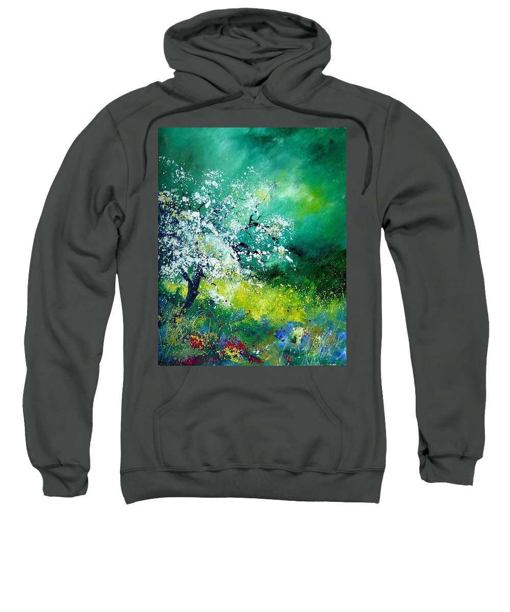 Flowers Sweatshirt featuring the painting Spring by Pol Ledent