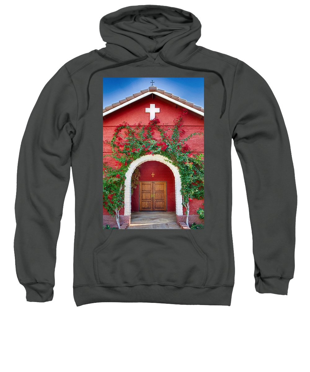 Florence Sweatshirt featuring the photograph St. Anthony's Church by Matt Suess
