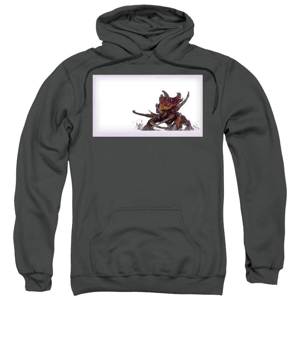 Starcraft Sweatshirt featuring the digital art Starcraft by Bert Mailer