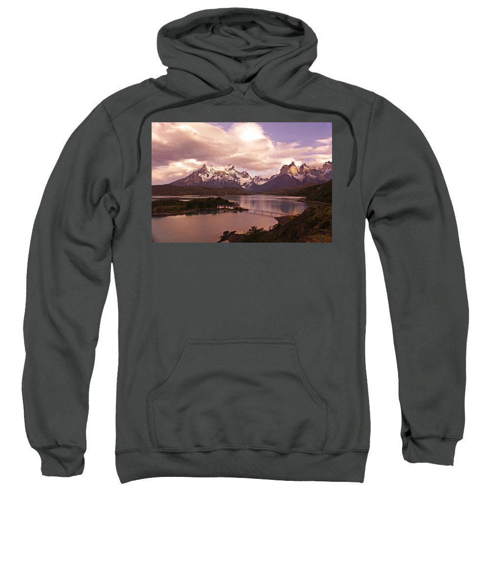 Chile Sweatshirt featuring the photograph Sunrise In Torres Del Paine by Michele Burgess