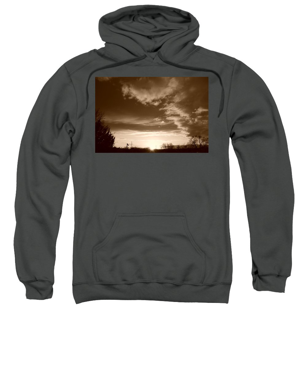 Sunset Sweatshirt featuring the photograph Sunset And Clouds by Rob Hans