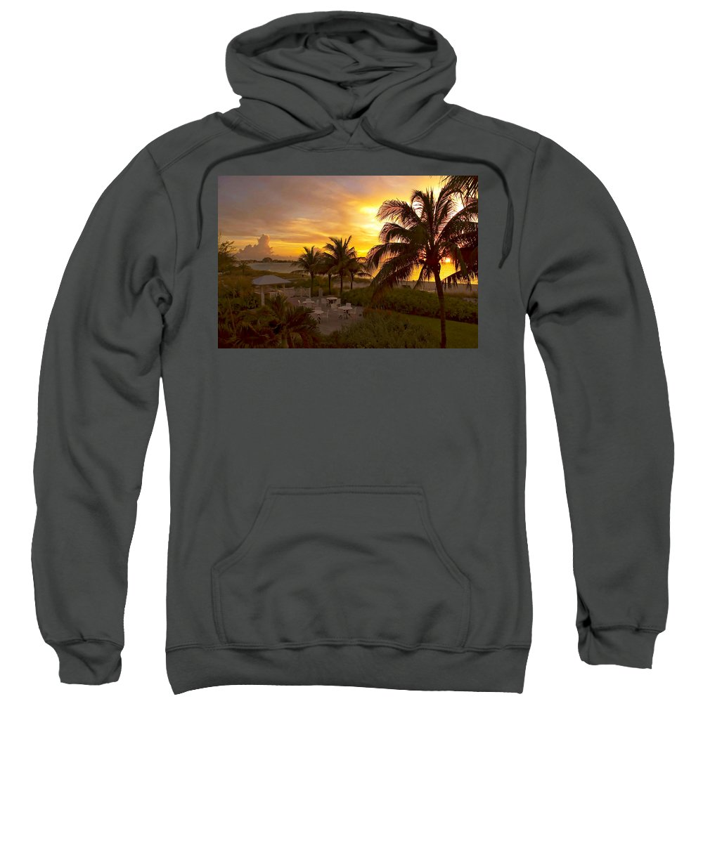 Sunset Sweatshirt featuring the photograph Sunset On Grace Bay by Stephen Anderson