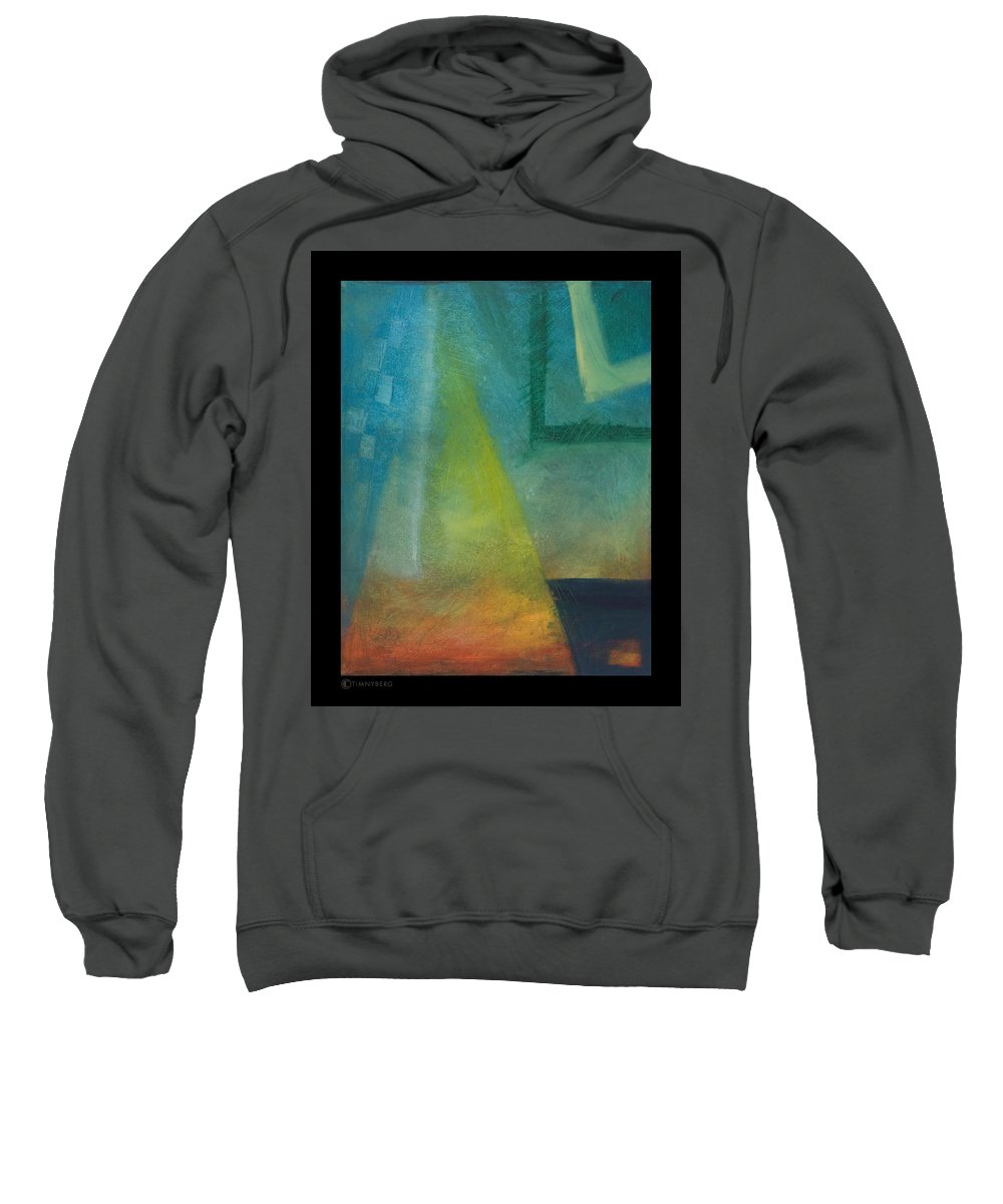 Sunset Sweatshirt featuring the painting Sunset Sail by Tim Nyberg