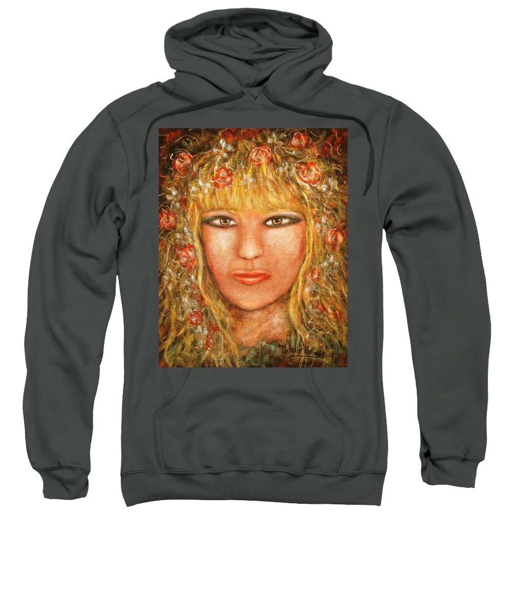 Sunshine Sweatshirt featuring the painting Sunshine by Natalie Holland