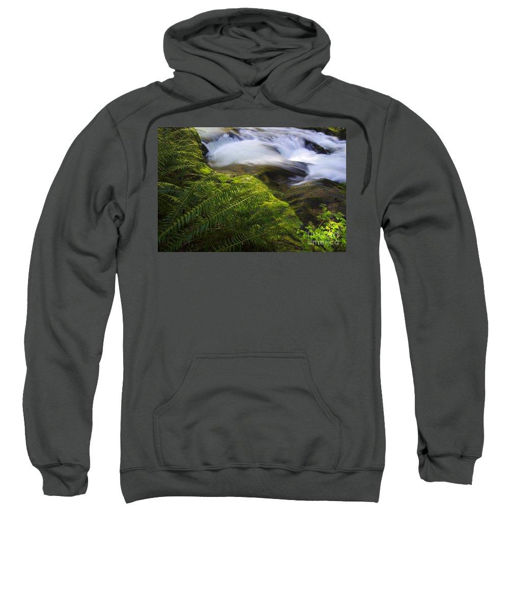 Sweet Creek Sweatshirt featuring the photograph Sweet Creek Oregon 11 by Bob Christopher