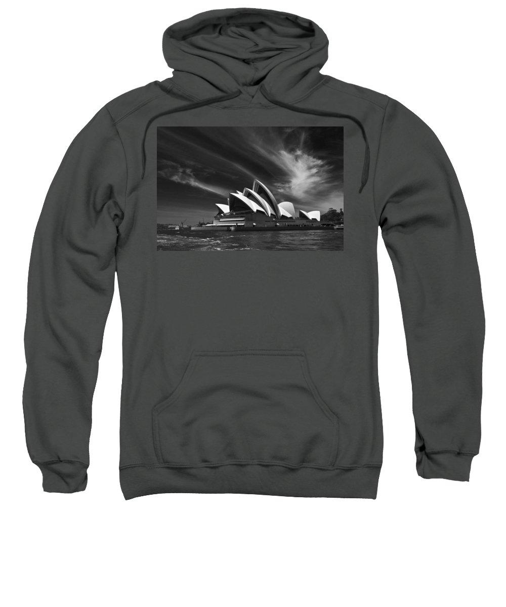 Sydney Opera House Monochrome Sweatshirt featuring the photograph Sydney Opera House by Sheila Smart Fine Art Photography