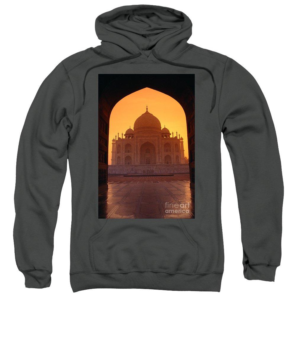 Agra Sweatshirt featuring the photograph Taj Mahal View by Gloria & Richard Maschmeyer - Printscapes