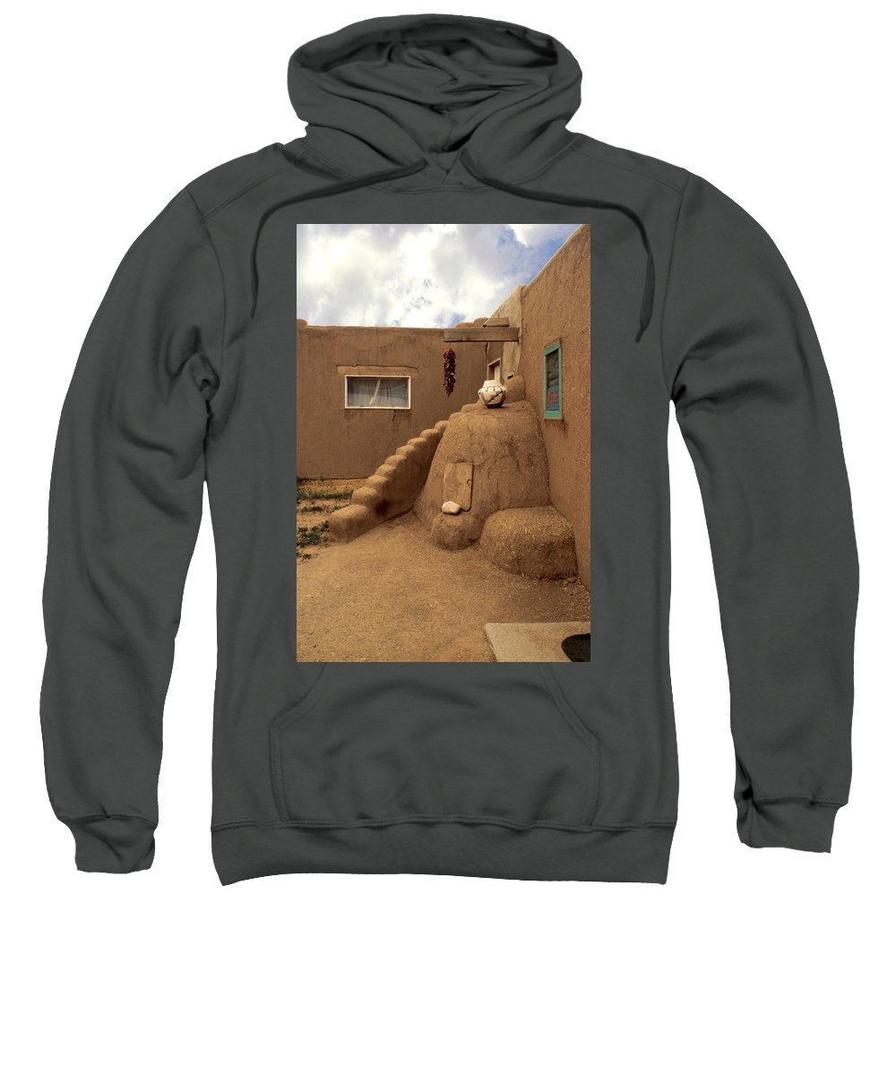 Taos Sweatshirt featuring the photograph Taos Pueblo by Jerry McElroy
