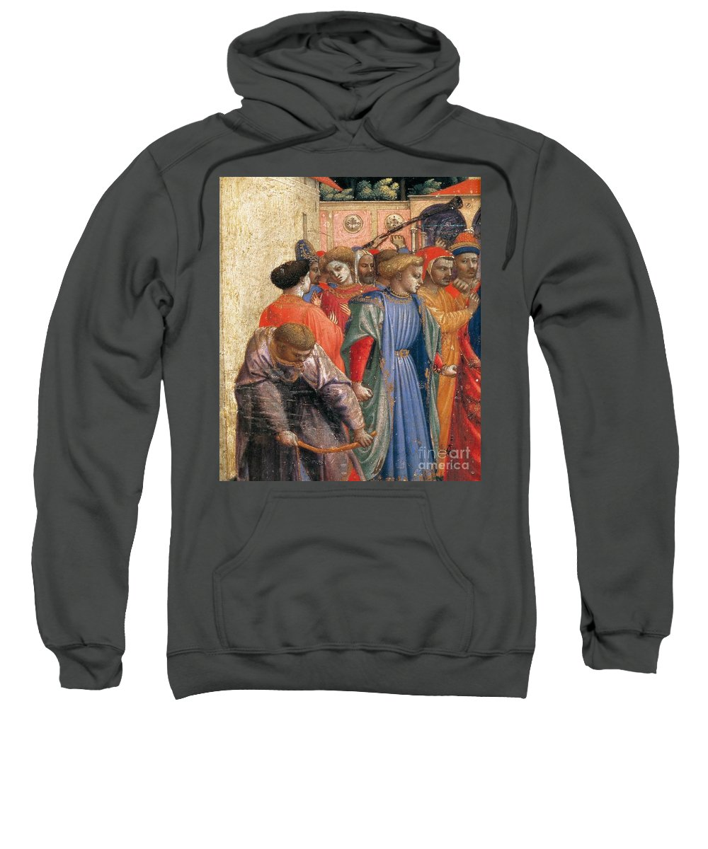 Fra Angelico Sweatshirt featuring the painting The Annunciation by Fra Angelico