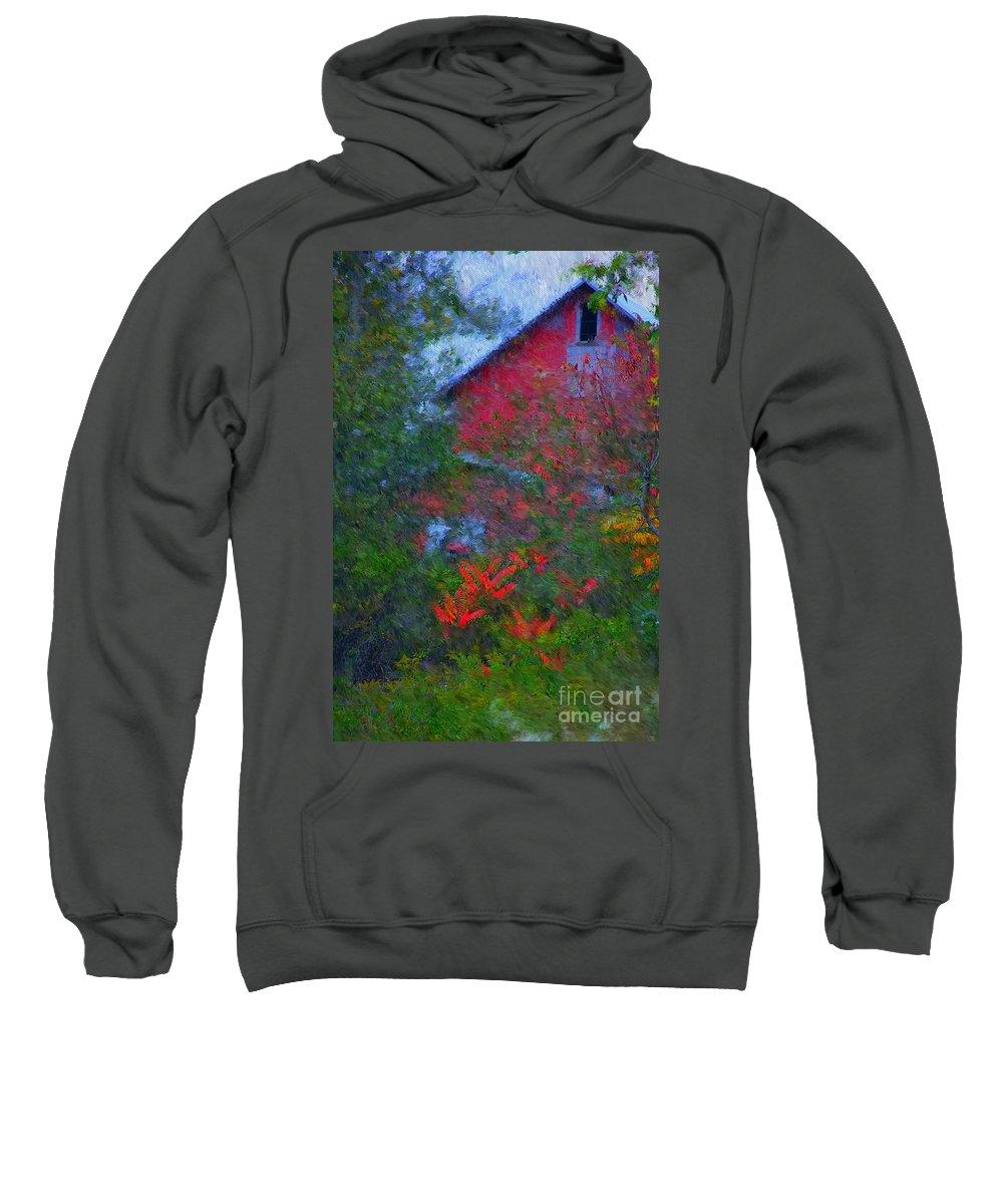 Digital Photo Sweatshirt featuring the photograph The Barn by David Lane