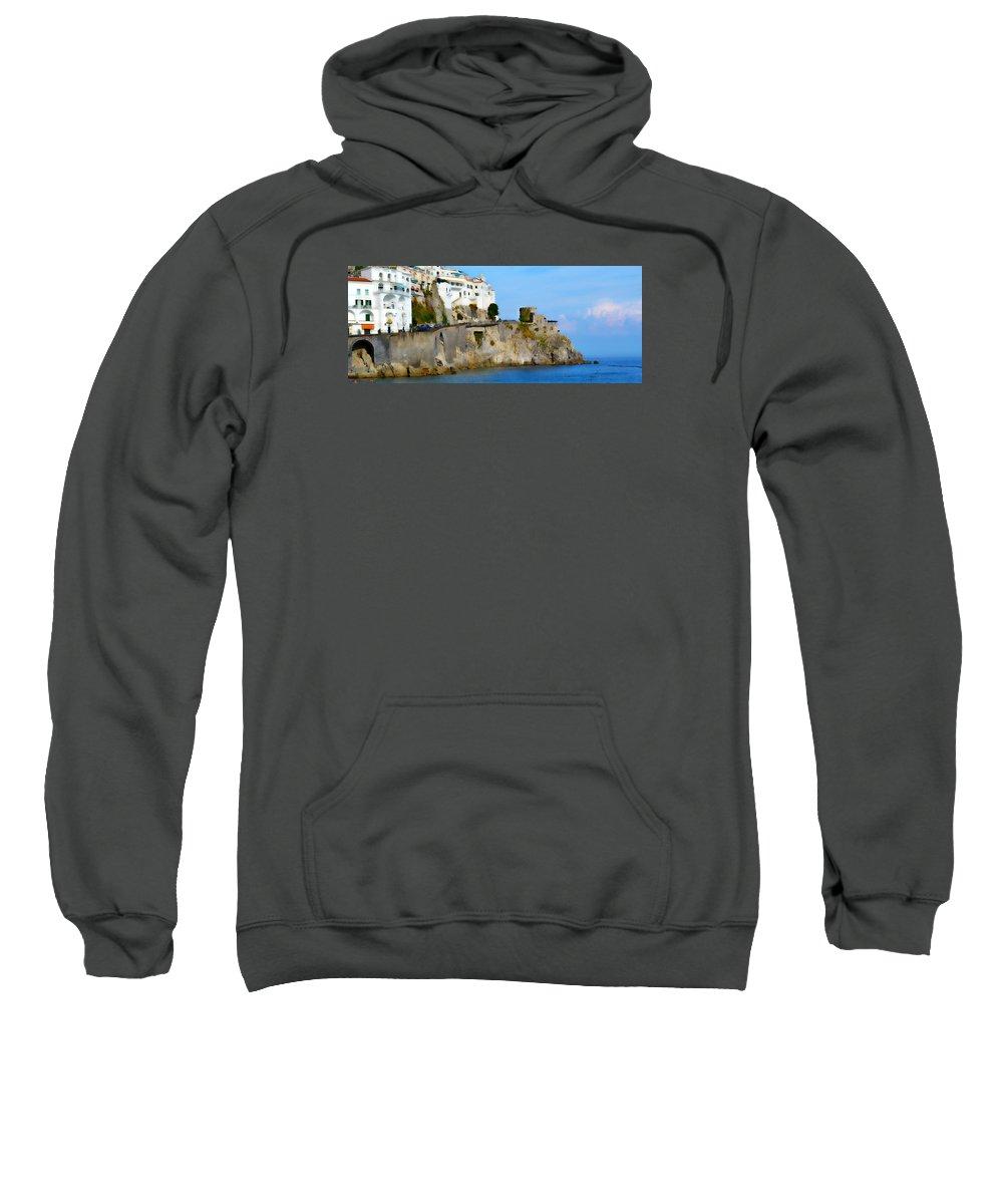 Beach Sweatshirt featuring the photograph The Beach At Amalfi by Jeffrey Hamilton
