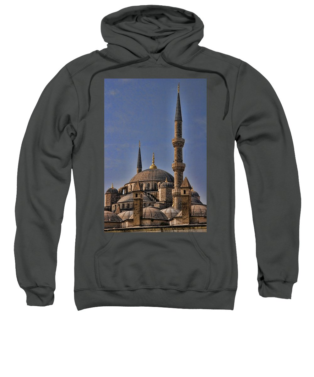 Turkey Sweatshirt featuring the photograph The Blue Mosque In Istanbul Turkey by David Smith