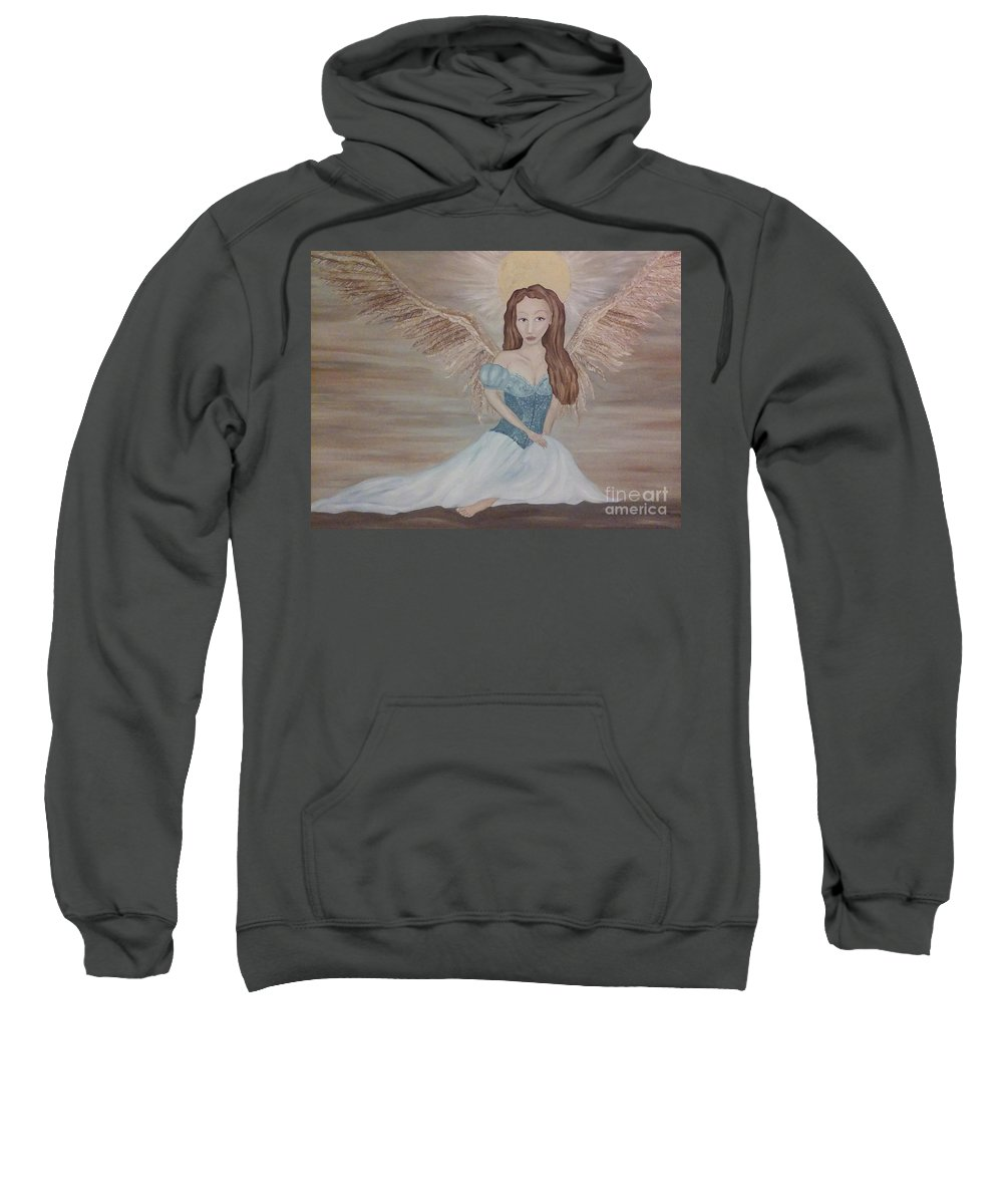 Wendy Wunstell Sweatshirt featuring the painting The Clearing After The Wind Dance by Wendy Wunstell