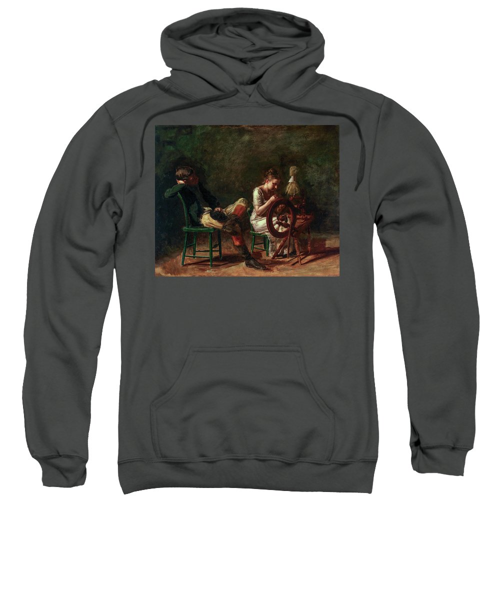 America Sweatshirt featuring the painting The Courtship by Thomas Eakins