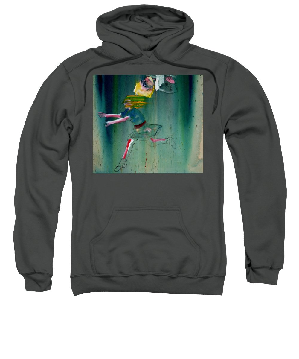 Fall Sweatshirt featuring the painting The Fruit Machine Stops Detail by Charles Stuart