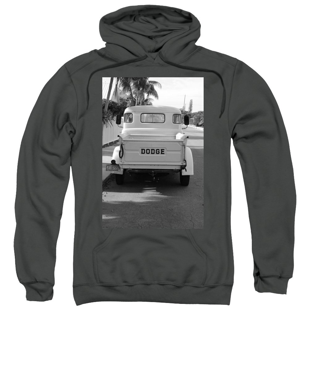 Black And White Sweatshirt featuring the photograph The Old Dodge by Rob Hans